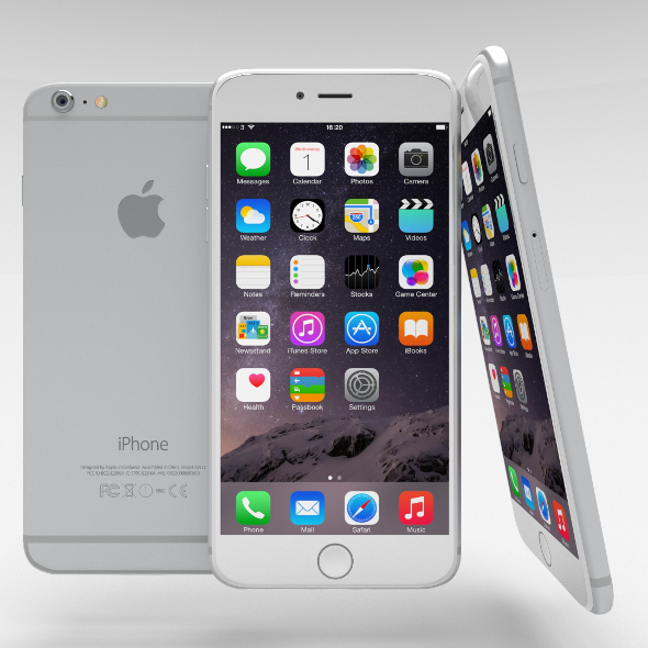 iPhone 6 Plus Silver - 3DOcean Item for Sale