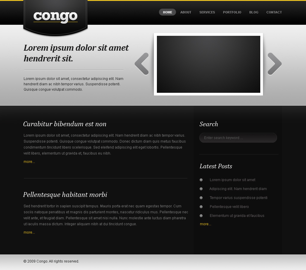 Free Download Congo - The Portfolio Template Nulled Latest Version