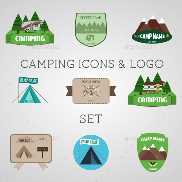Outdoor Vector Design Elements - Travel Conceptual