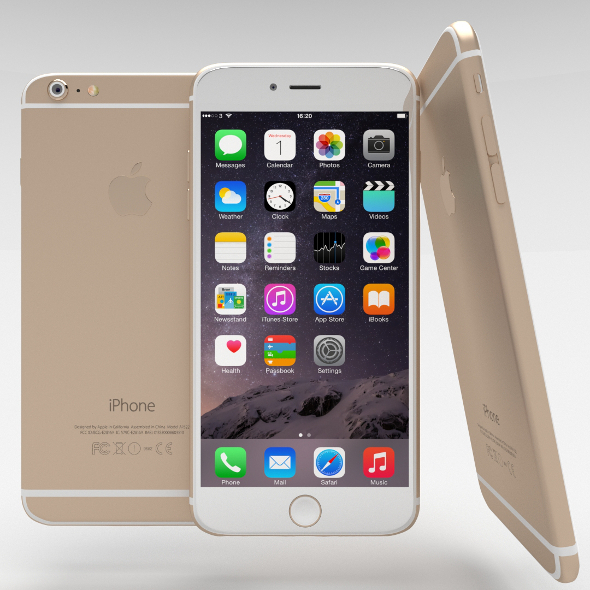 iPhone 6 Plus Gold - 3DOcean Item for Sale