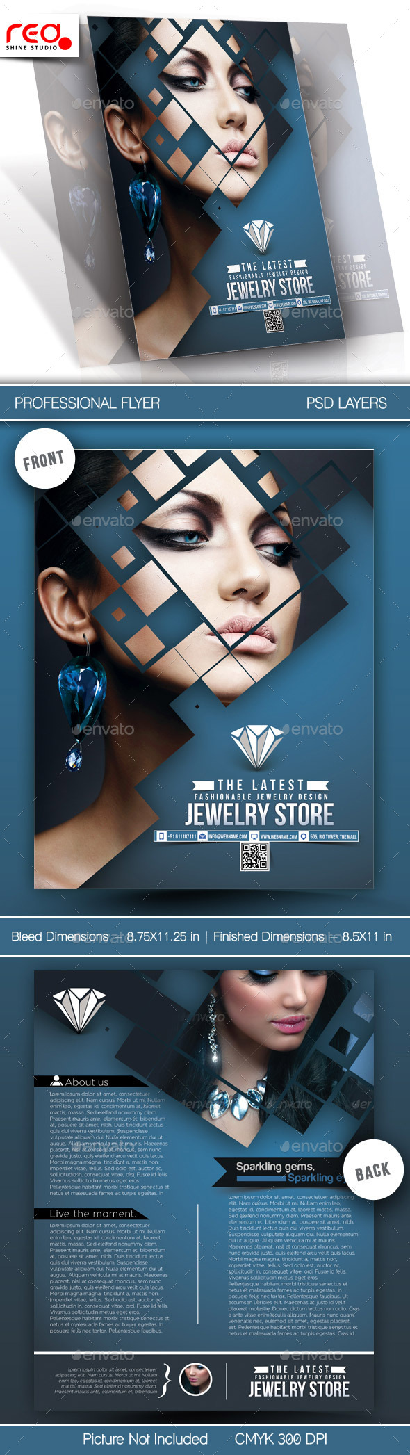 Jewelry Store Flyer Template By Redshinestudio Graphicriver