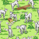 Goats on  Lawn