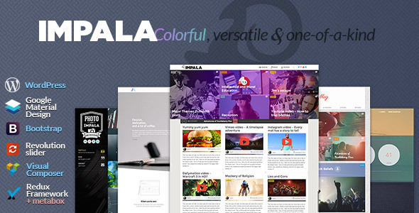 Impala – Colorful, Versatile and one-of-kind theme