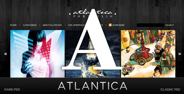 Free Download Atlantica (PSD) - Premium PSD Package Nulled Latest Version