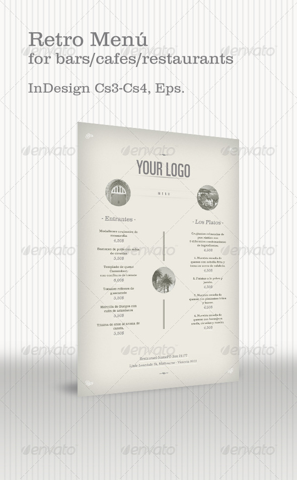 Retro Menu - Food Menus Print Templates