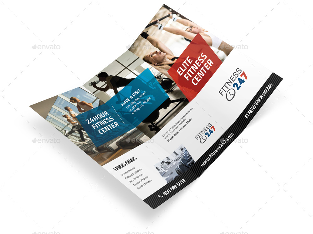 Fitness Gym Trifold Brochure By Mike_Pantone | Graphicriver