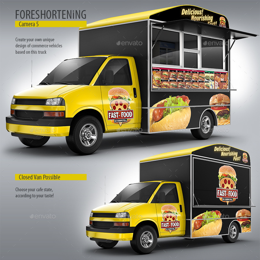 Food truck mock up van eatery mockup by bennet1890 for Design your food truck