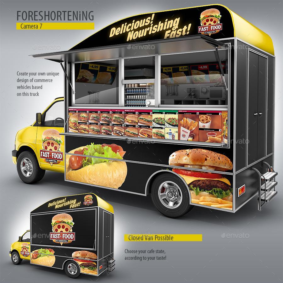 Food truck mock up van eatery mockup by bennet1890 for Best food truck designs