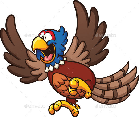 Cartoon Pheasant - Animals Characters