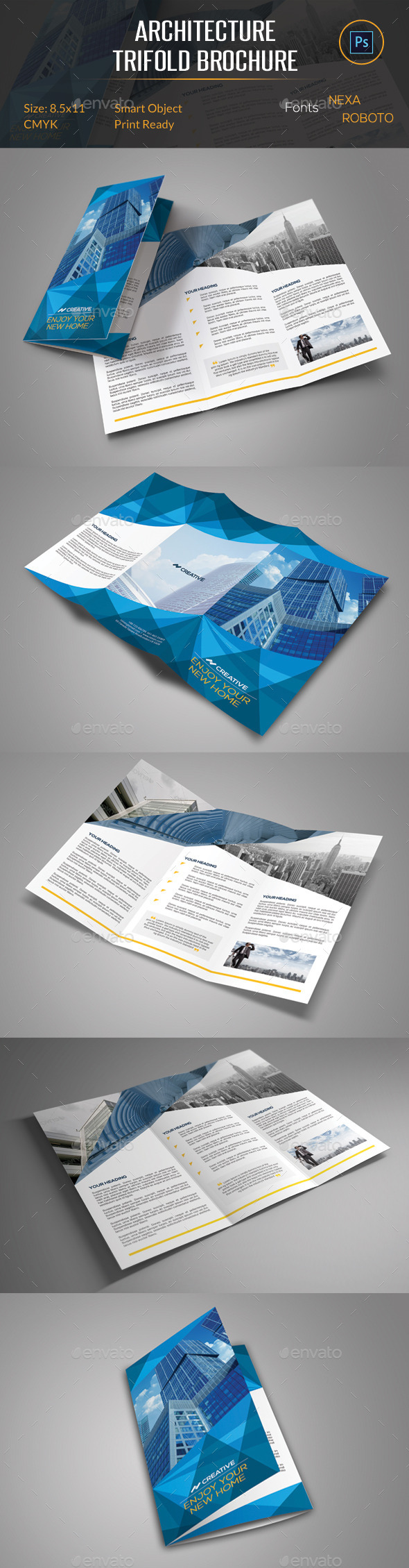 Architecture Trifold Brochure By Orcshape Graphicriver