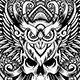 Darkguardian - Skull & Owl Theme Tshirt Design