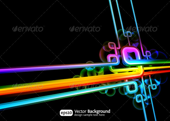 Retro technology abstract vector background - Backgrounds Decorative