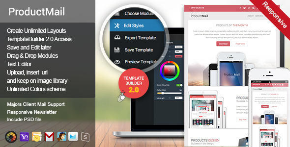 ProductMail - Responsive E-mail Template - Newsletters Email Templates