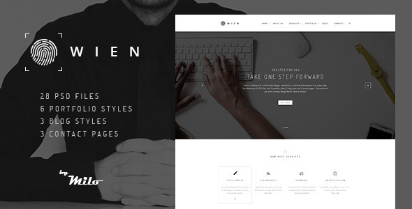 Wien – Modern Business Multi-purpose PSD Template