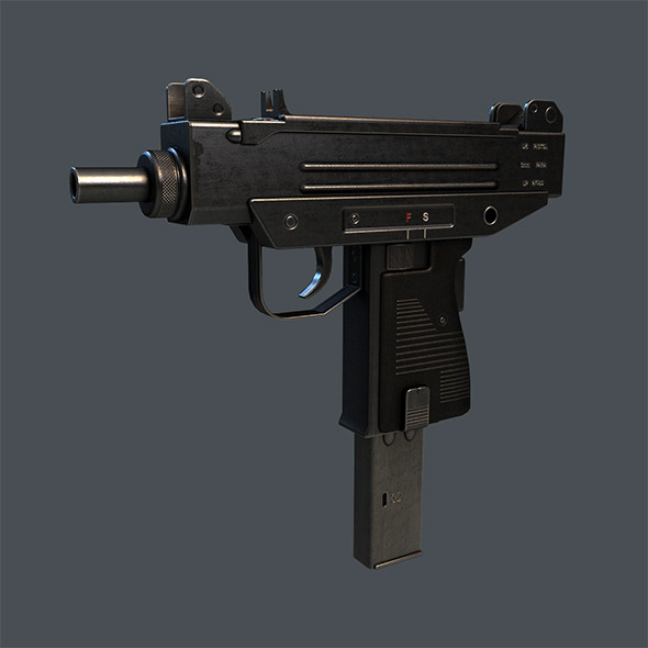 Micro UZI SMG - 3DOcean Item for Sale