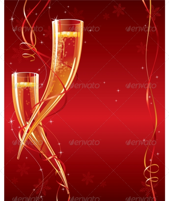 Happy New Year. Christmas greeting card - Christmas Seasons/Holidays