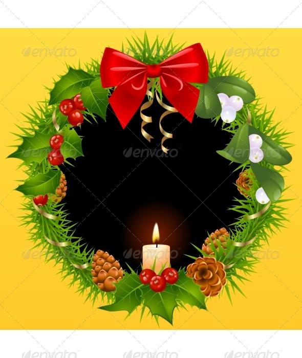 Christmas wreath background - Christmas Seasons/Holidays