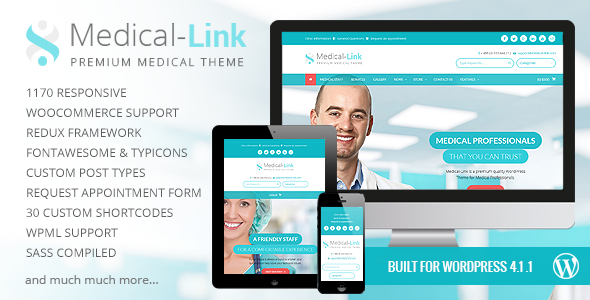 Medical-Link – Responsive Medical WordPress Theme