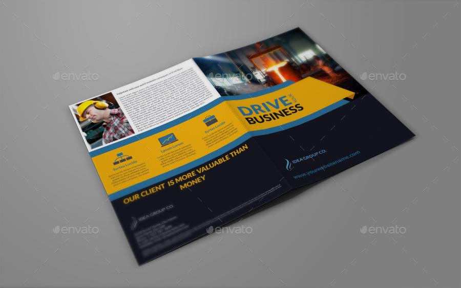 construction brochure design pdf - industrial company brochure bi fold template vol2 by