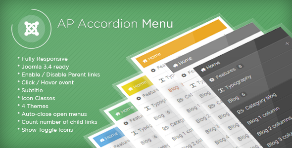AP Accordion Menu - Joomla Module - CodeCanyon Item for Sale