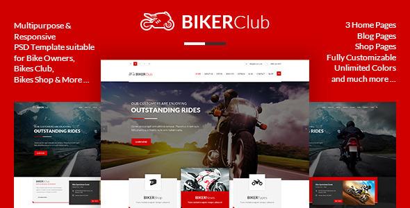 BikersClub – PSD Template