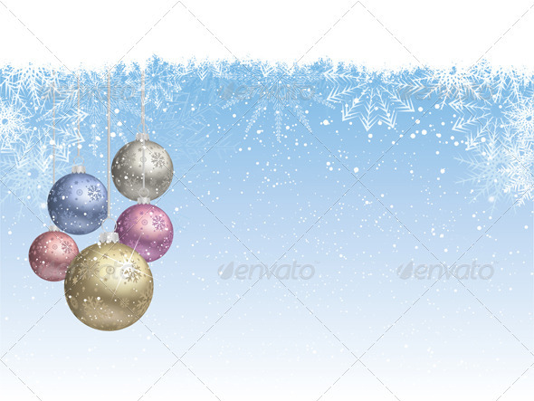 Christmas bauble background - Characters Vectors