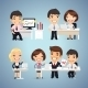 Managers Cartoon Characters at the Table Set - GraphicRiver Item for Sale