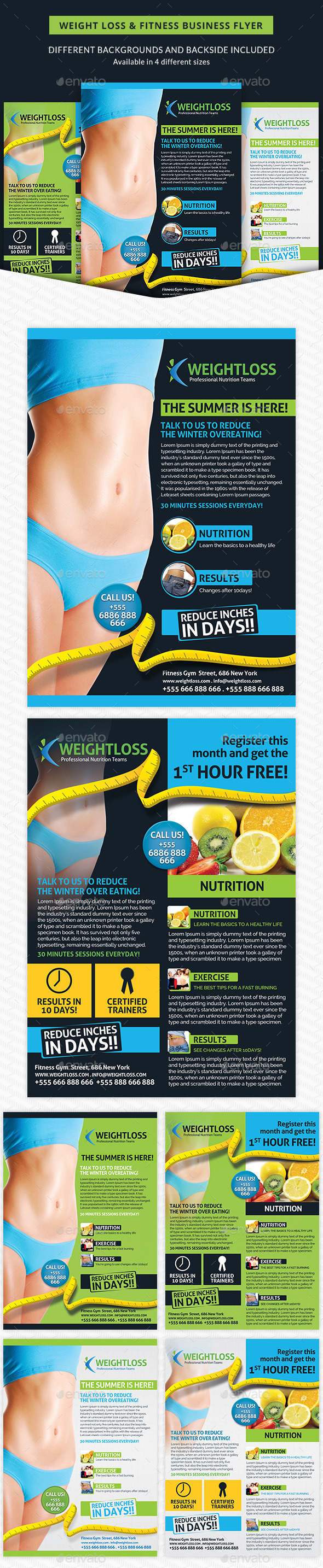 Weight Loss & Fitness Business Flyer - Corporate Flyers