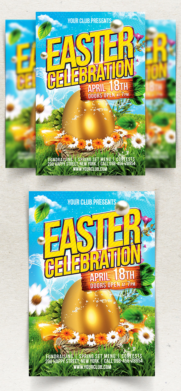 Happy Easter Flyer Template By Jumaj Graphicriver