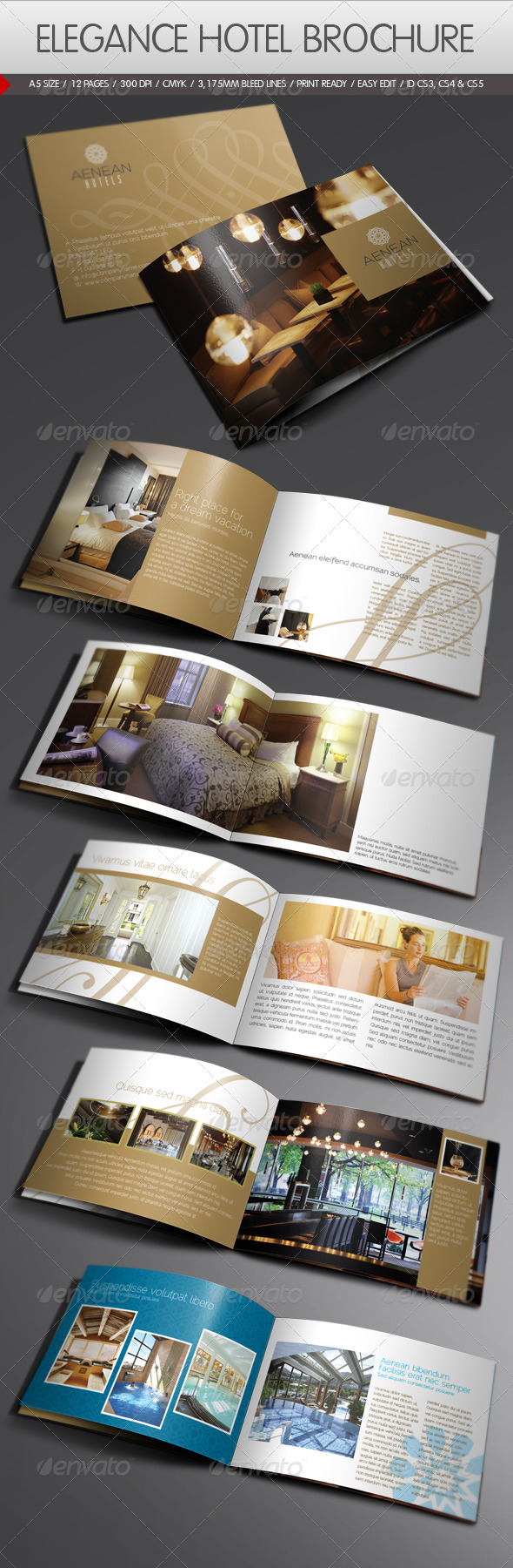 Elegance hotel brochure by yderindere graphicriver for Hotel brochure design templates