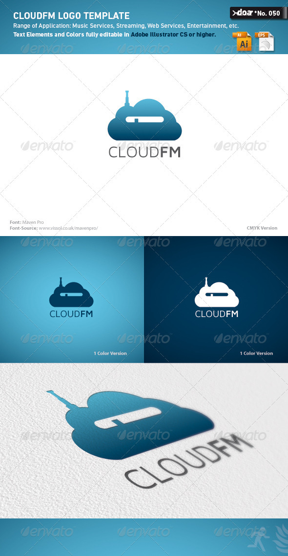 CloudFM Logo Template - Nature Logo Templates