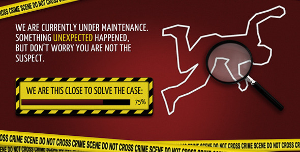 Crime Scene – Coming Soon Template