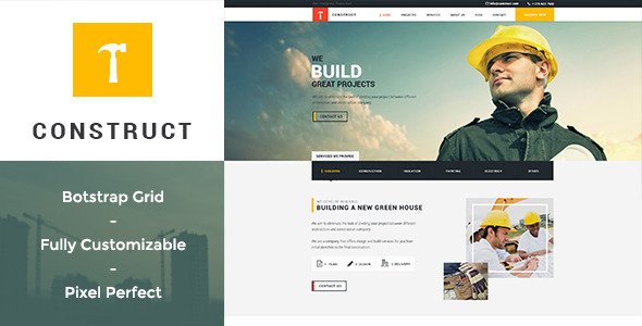 Construct – Building & Construction PSD Template