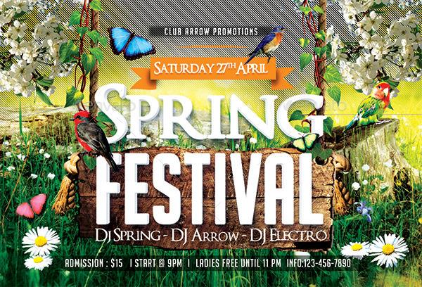 Spring/ Easter Festival Flyer Template