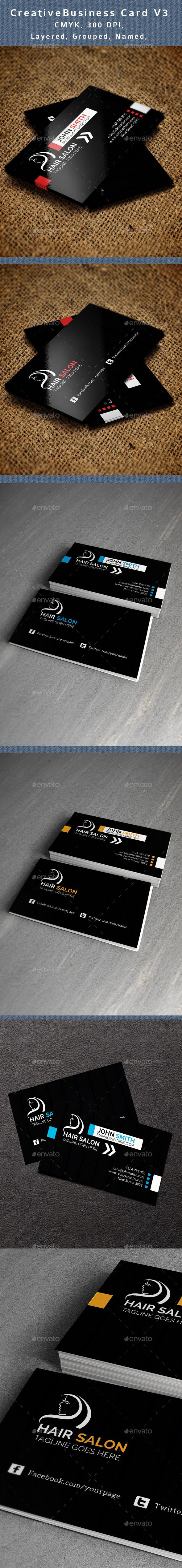Hair Salon Business Card Graphics Designs Templates
