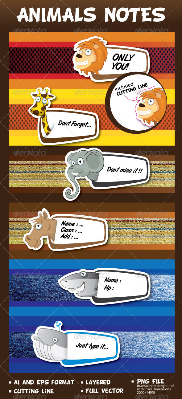 Animals Notes - Animals Characters