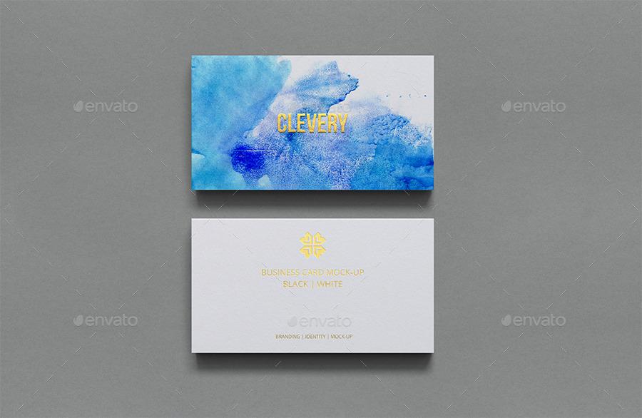 Photorealistic business card mockup black white by clevery photorealistic business card mockup black white colourmoves