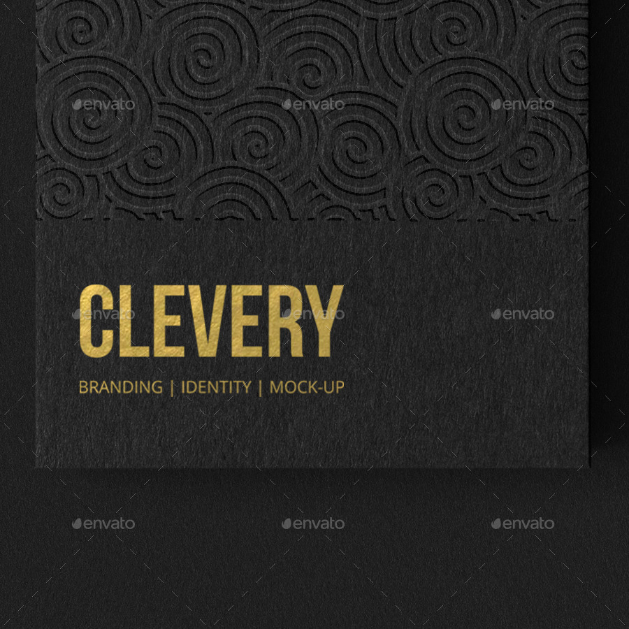 Photorealistic Business Card Mockup Black & White by Clevery ...