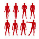 Man Silhouette Set - GraphicRiver Item for Sale