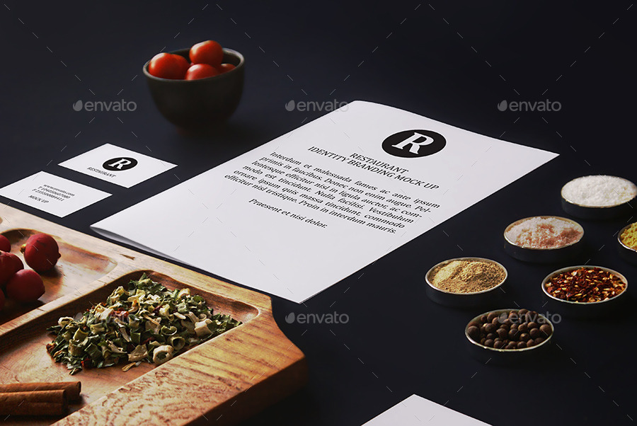 Restaurant Identity Branding Mock-Up by 8pmDesign | GraphicRiver