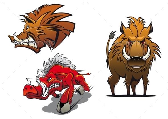 Wild Boars  - Animals Characters