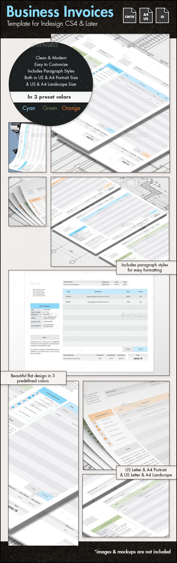 Business Invoices - A4 & US Letter - Proposals & Invoices Stationery