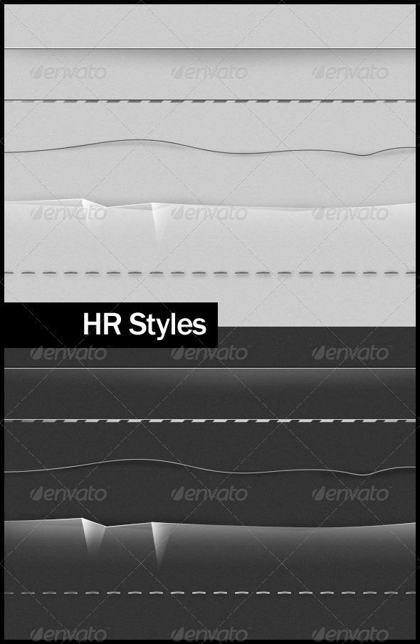 HR Styles - Miscellaneous Web Elements