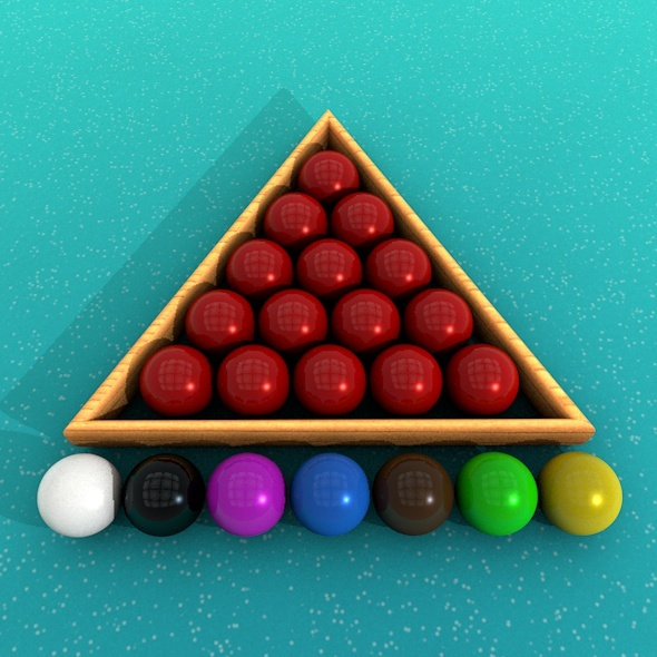 Snooker Balls - 3DOcean Item for Sale