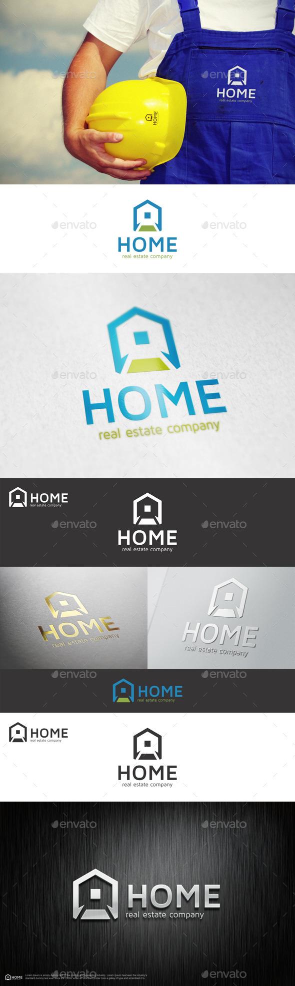 Home Real Estate Company Logo