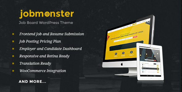 Jobmonster – Job Board WordPress Theme