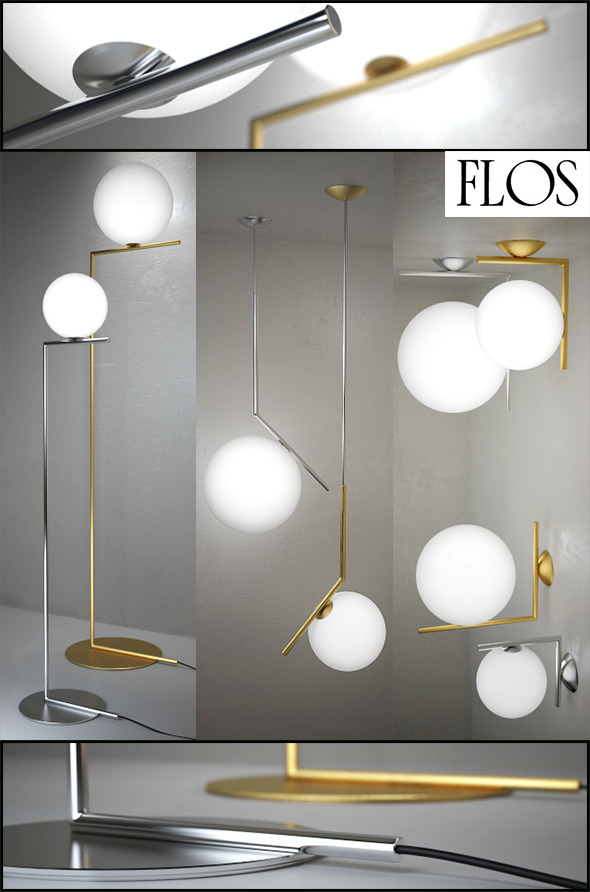 lighting transparent bon light lamp flos jour table