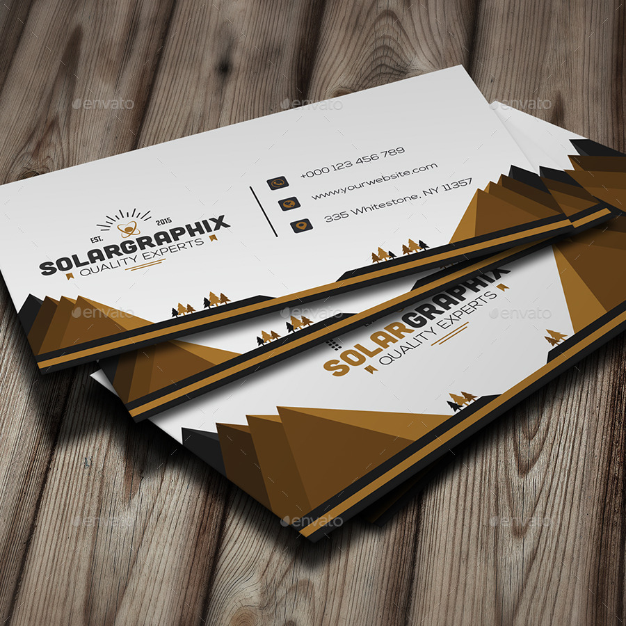 Solar Creative Business Card by Infenixx | GraphicRiver