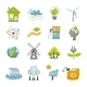 Eco Energy Icons Flat - GraphicRiver Item for Sale