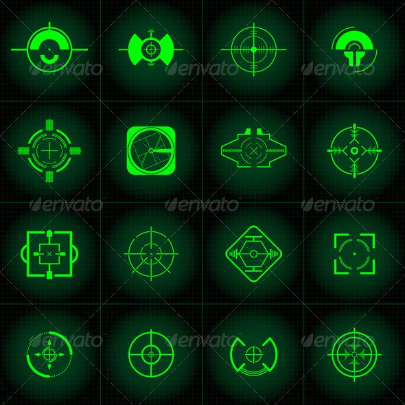 Gun Sights  - User Interfaces Game Assets